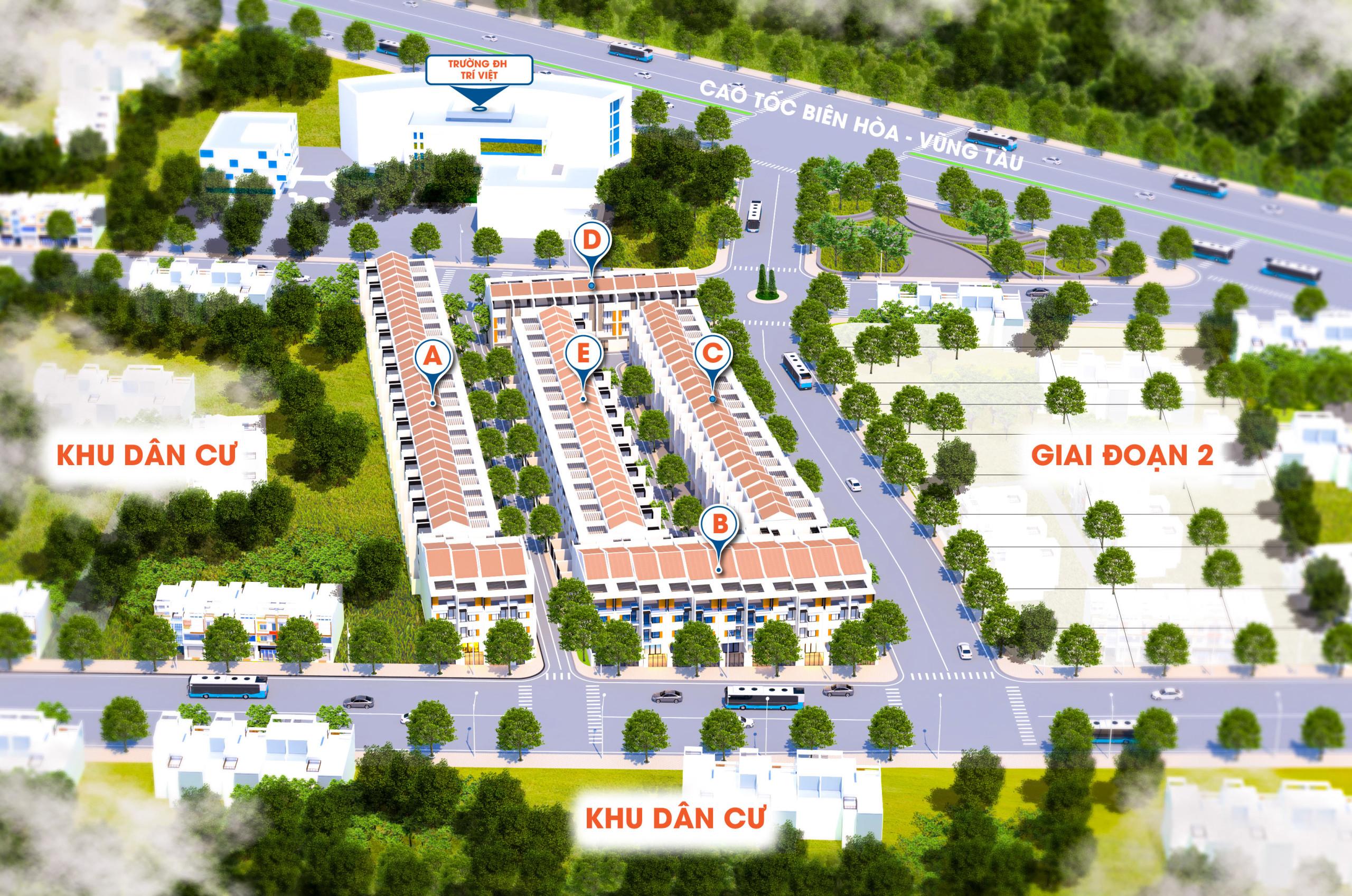 Phối cảnh tổng thể dự án khu dân cư Golden Central Park Bà Rịa – Vũng Tàu
