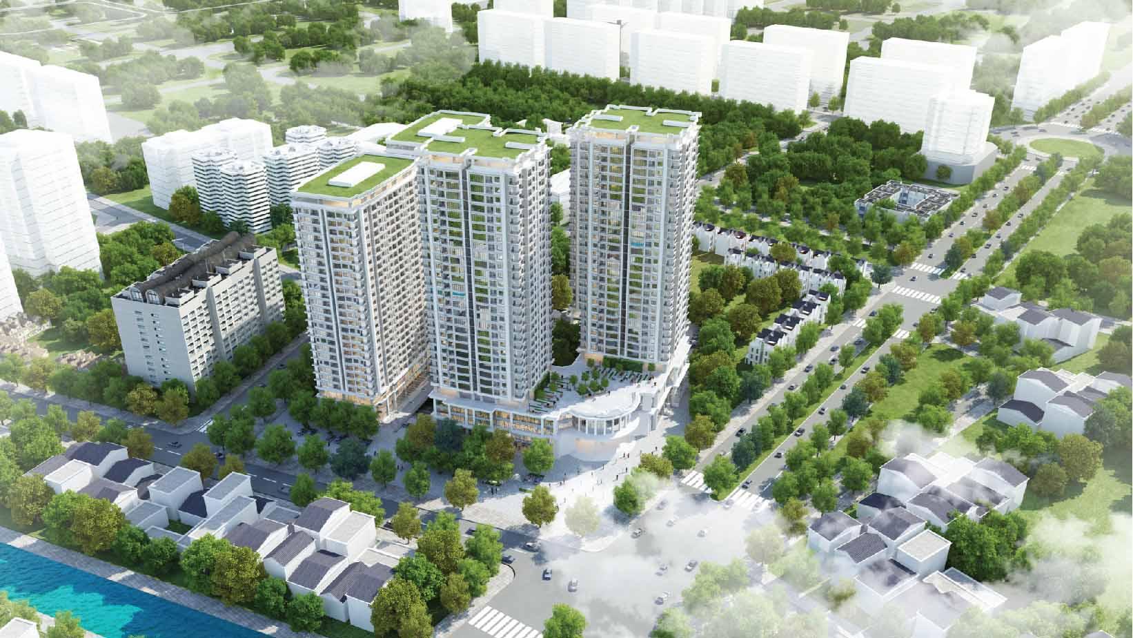 Phối cảnh tổng thể dự án Iris Garden Hà Nội