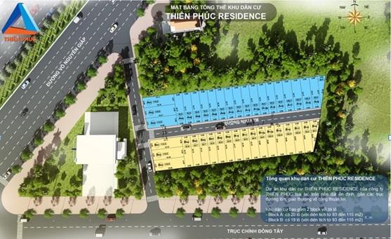 Mặt bằng dự án Thiên Phúc Residence Đồng Nai
