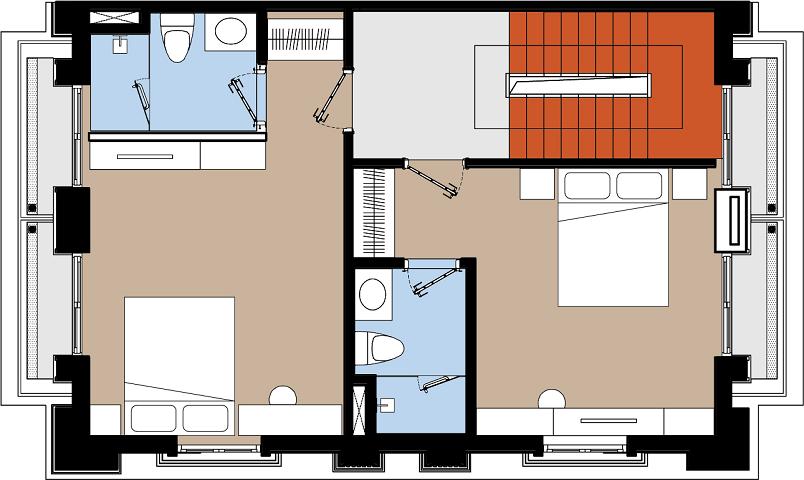 Mặt bằng tầng 2, 3, 4 mẫu nhà điển hình dự án Harbor Bay Ha Long
