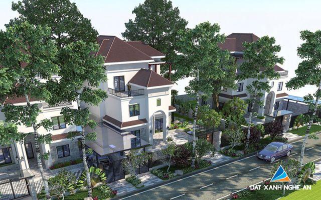 Phối cảnh căn biệt thự view hồ điển hình trong khu đô thị Xuân An Green Park