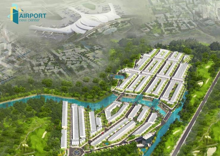 Phối cảnh tổng thể dự án Airport New Center huyện Long Thành