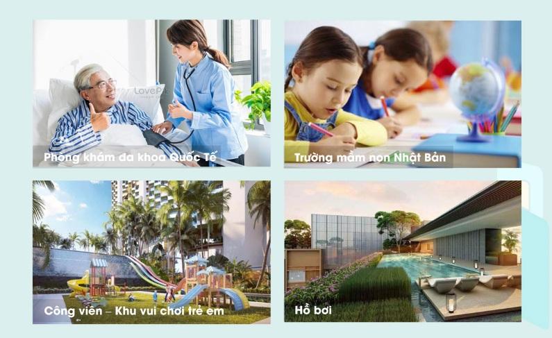 Một số tiện ích nội khu dự án Airport New Center huyện Long Thành