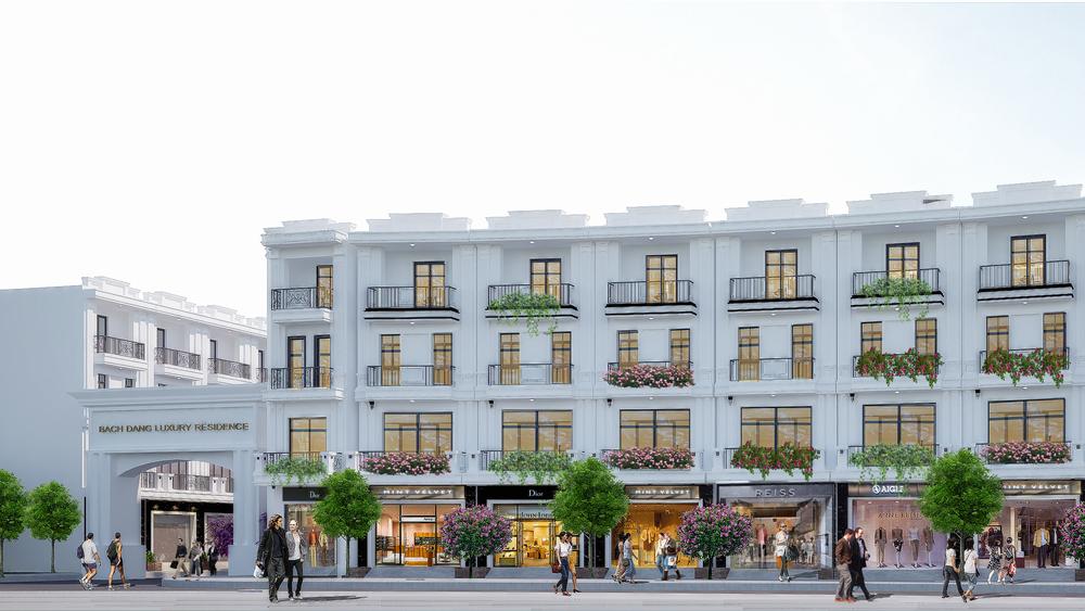 Phối cảnh các căn nhà phố Bach Dang Luxury Residence mặt đường Phạm Tử Nghi
