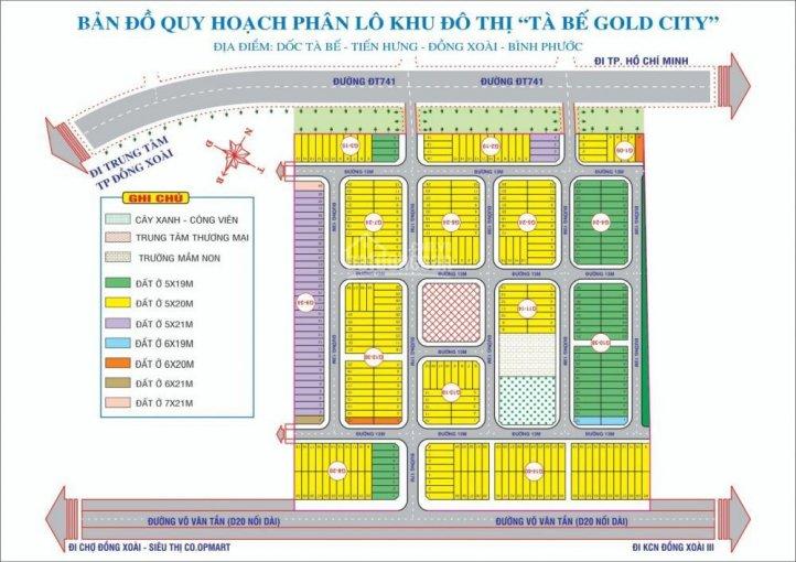 Mặt bằng phân lô dự án Tà Bế Gold City Bình Phước