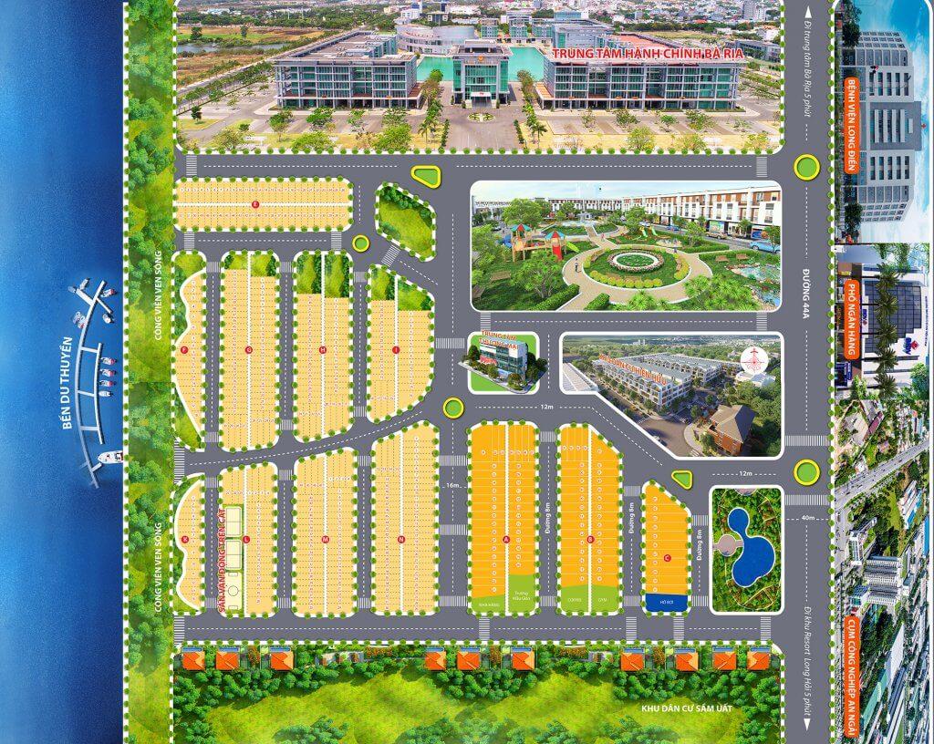 Mặt bằng tổng thể dự án 3S City Long Hưng
