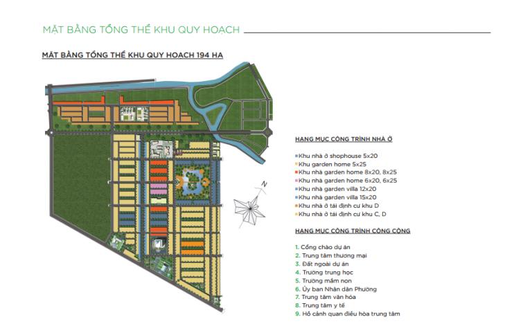 Mặt bằng tổng thể khu đô thị quy hoạch Happy Home Cà Mau
