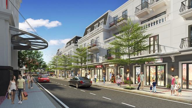 Shophouse tầng 1 rộng 67,49 – 90,82m2 trong khuôn viên Vincom Shophouse Dĩ An