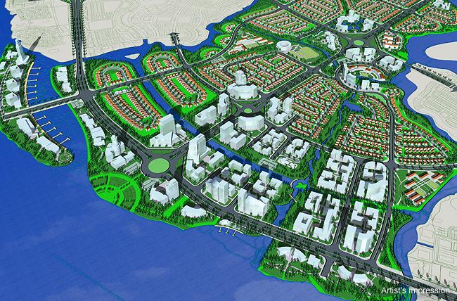 Phối cảnh khu đô thị Waterfront Đồng Nai