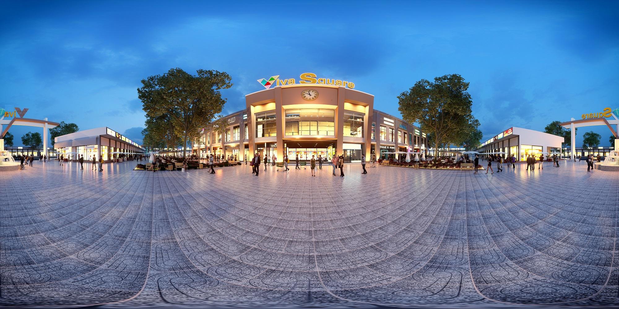Phối cảnh trung tâm thương mại Viva Square Đồng Nai