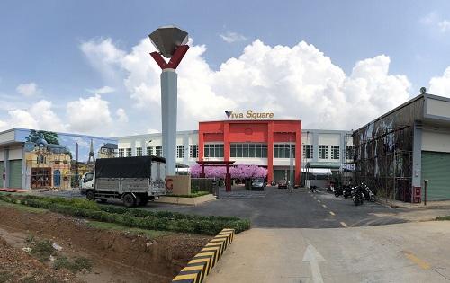 Thực tế khu trung tâm thương mại Viva Square sau khi đã khai trương