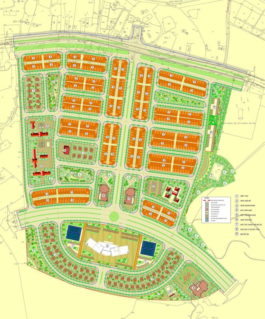 Mặt bằng dự án khu đô thị Promexco Móng Cái