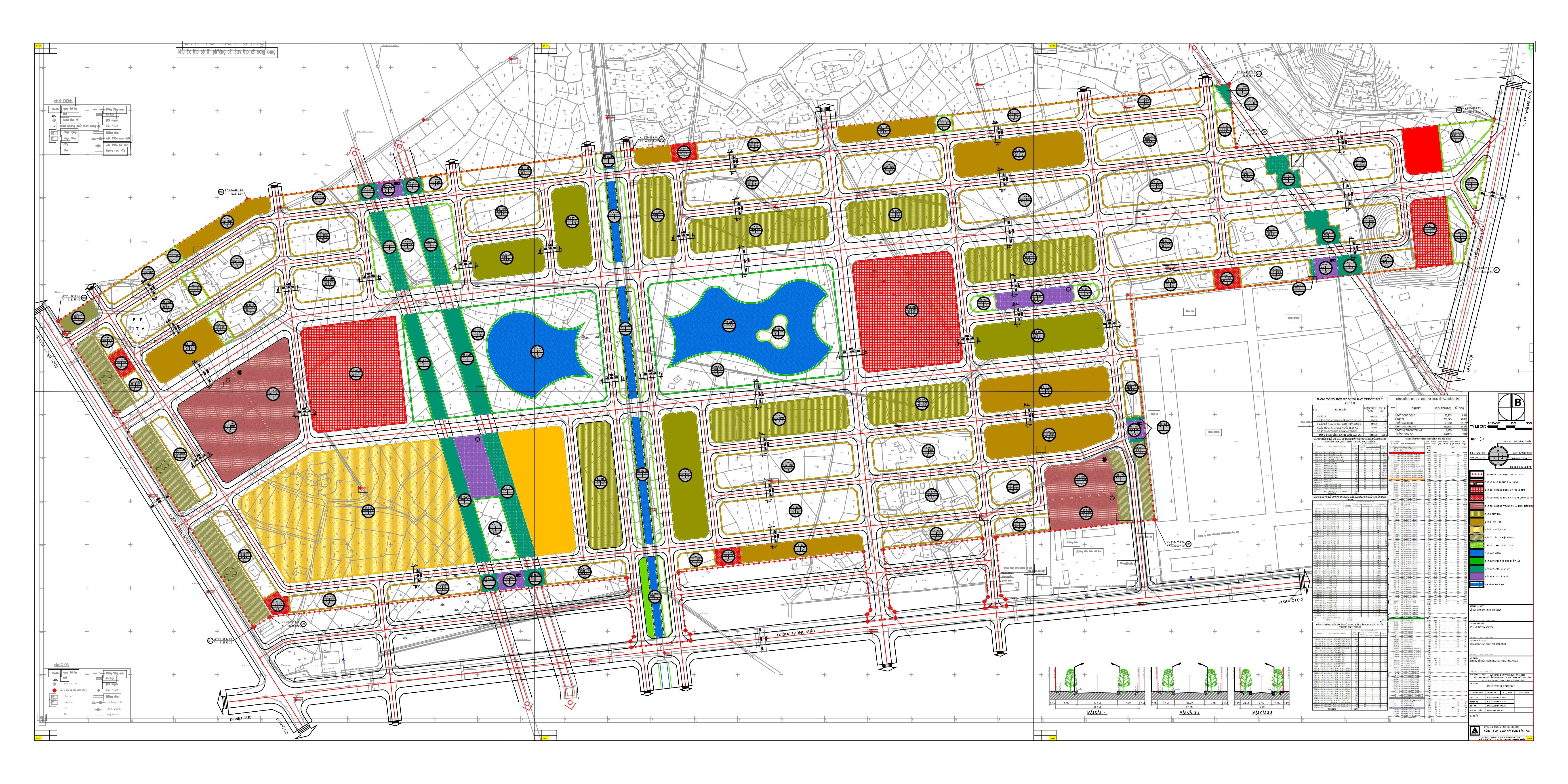Mặt bằng tổng thể dự án Canary City Thái Nguyên