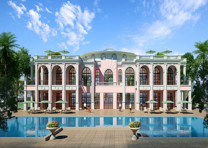 Phối cảnh dãy biệt thự Sonasea Paris Villas