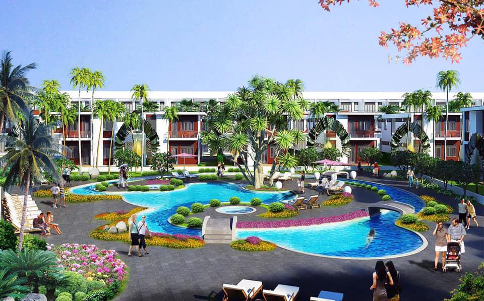 Phối cảnh cảnh quan nội khu dự án AE Resort Cửa Tùng