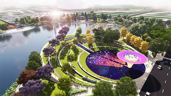 Phối cảnh công viên thiên văn học trong KĐT Dương Nội rộng 12ha