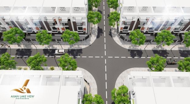 Hạ tầng nội khu dự kiến khi hoàn thành đáp ứng nhu cầu đi lại của cư dân trong khu dân cư với độ rộng mặt đường từ 13 – 17m