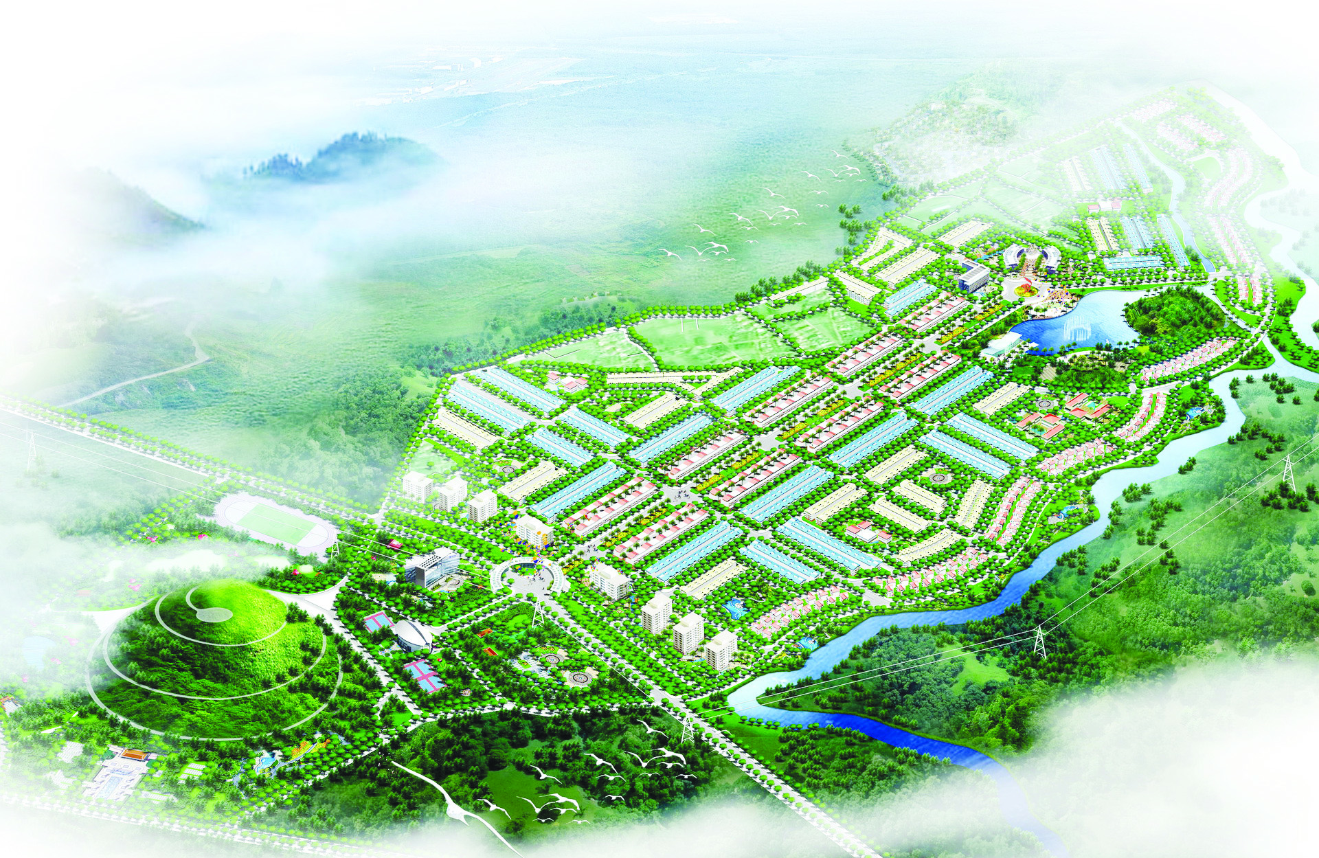 Phối cảnh tổng thể dự án khu đô thị Phú Mỹ Quảng Ngãi