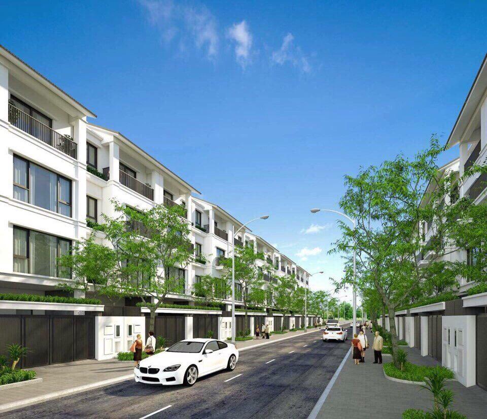 Phối cảnh dãy nhà liền kề dự án khu đô thị Promexco Móng Cái