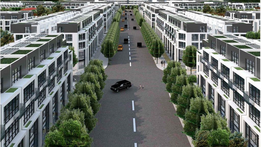 Phối cảnh đường nội khu dự án khu đô thị Promexco Móng Cái