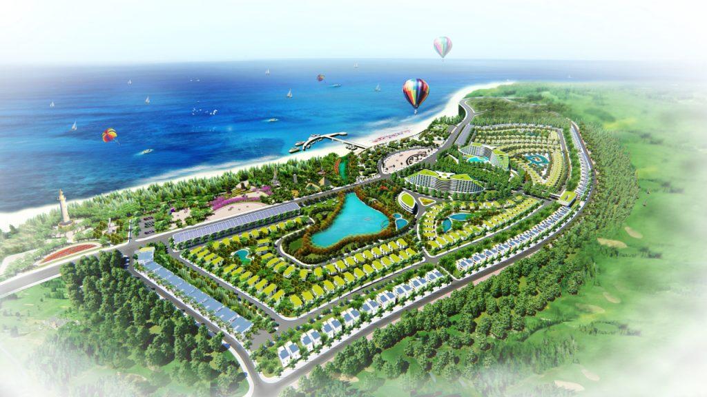 Phối cảnh tổng thể dự án khu đô thị sinh thái biển AE Resort Cửa Tùng
