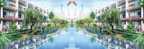 Phối cảnh dãy phố Home Resort dự án khu phức hợp LIC City