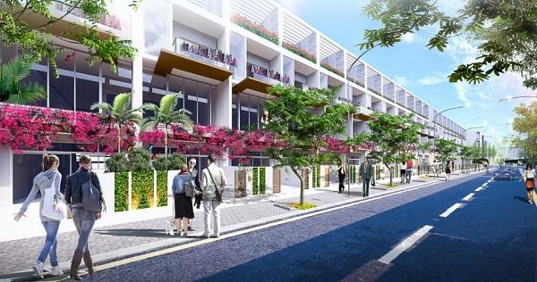Phối cảnh dãy nhà phố dự án khu phức hợp LIC City