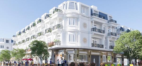 Phối cảnh căn shophouse góc dự án Galaxy Hải Sơn