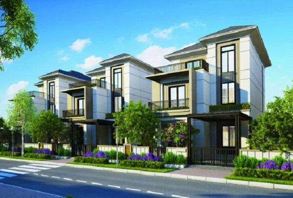 Phối cảnh khu biệt thự đơn lập dự án Aqua City đồng nai