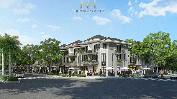 Phối cảnh đường nội khu dự án khu đô thị sinh thái Nhơn Hội New City