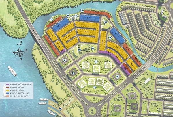Mặt bằng tổng thể dự án Aqua City Đồng Nai