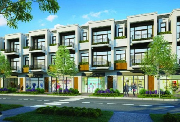Phối cảnh khu nhà phố thương mại dự án Aqua City Đồng nai