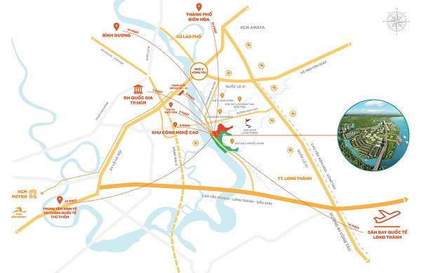 Tiện ích xung quanh dự án Aqua City Đồng Nai