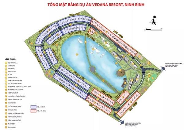Vedana Resort, mat bang Vedana Resort, Vedana Resort ninh binh