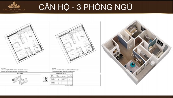 Apec Golden Palace, thiet ke chi tiet Apec Golden Palace, can ho 3 phong ngu Apec Golden Palace