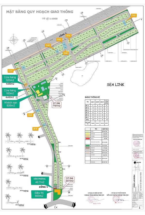 Mặt bằng quy hoạch 1/1000 dự án Diamond Bay Phan Thiết