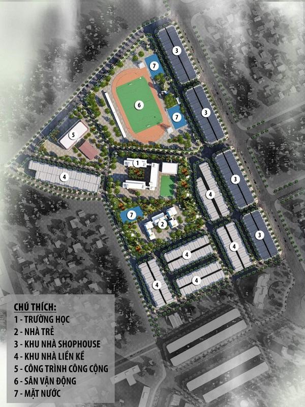 Mặt bằng tổng thể dự án khu đô thị Vườn Sen