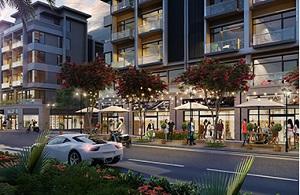 Phối cảnh dãy nhà phố thương mại tại dự án khu đô thị Vườn Sen