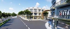 Phối cảnh dãy nhà tại dự án khu đô thị Tân Lập Garden