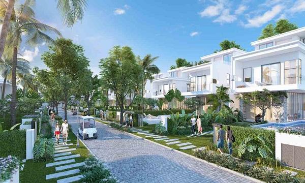 Phối cảnh các căn biệt thự tại dự án khu du lịch nghỉ dưỡng Lagoona