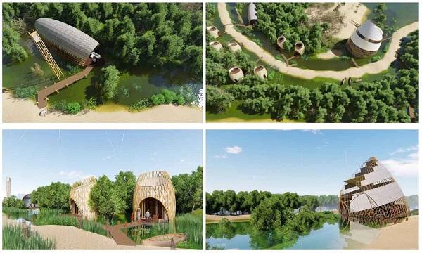 Phối cảnh các căn bungalow tại dự án khu du lịch nghỉ dưỡng Lagoona