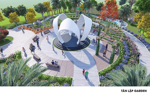 Phối cảnh công viên tại dự án khu đô thị Tân Lập Garden