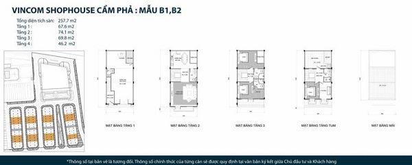 Thiết kế chi tiết mẫu shophouse mẫu B1, B2 tại dự án tổ hợp nhà phố thương mại Vincom Shophouse