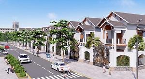 Phối cảnh mẫu biệt thự, nhà liền kề và đường nội khu tại dự án khu dân cư Phú Mỹ Lộc