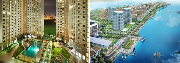 Phối cảnh khu chung cư tại dự án khu đô thị Marine City
