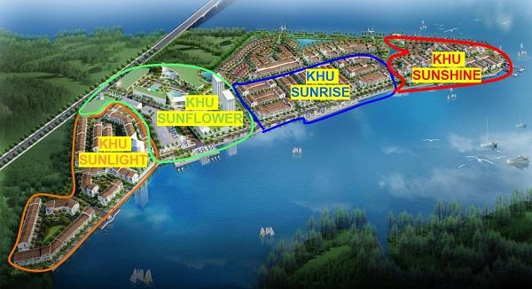 Mặt bằng phân khu dự án khu đô thị Marine City