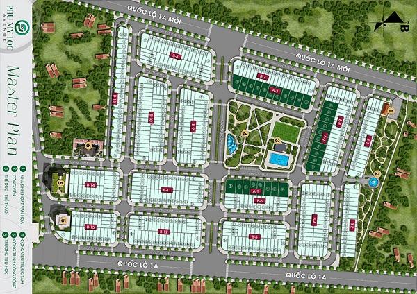 Mặt bằng tổng thể dự án khu dân cư Phú Mỹ Lộc