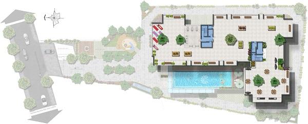 Mặt bằng sân thượng tại dự án căn hộ Saigon Asiana