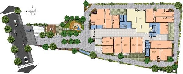 Mặt bằng tầng 1 tại dự án căn hộ Saigon Asiana