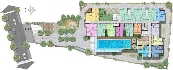 Mặt bằng tầng 2 tại dự án căn hộ Saigon Asiana